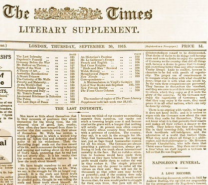 the times literary supplement pdf