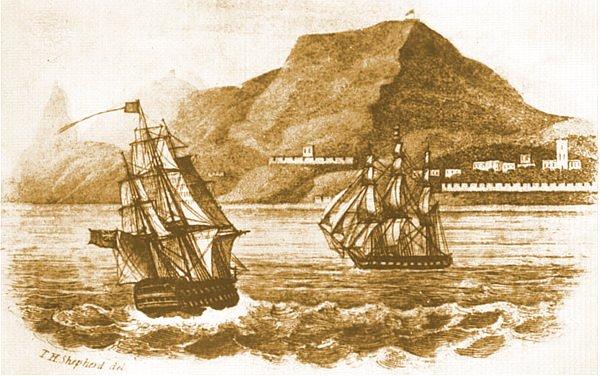 Arrivée de Napoléon à Sainte-Hélène