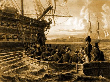 Napoléon se rend au Bellérophon